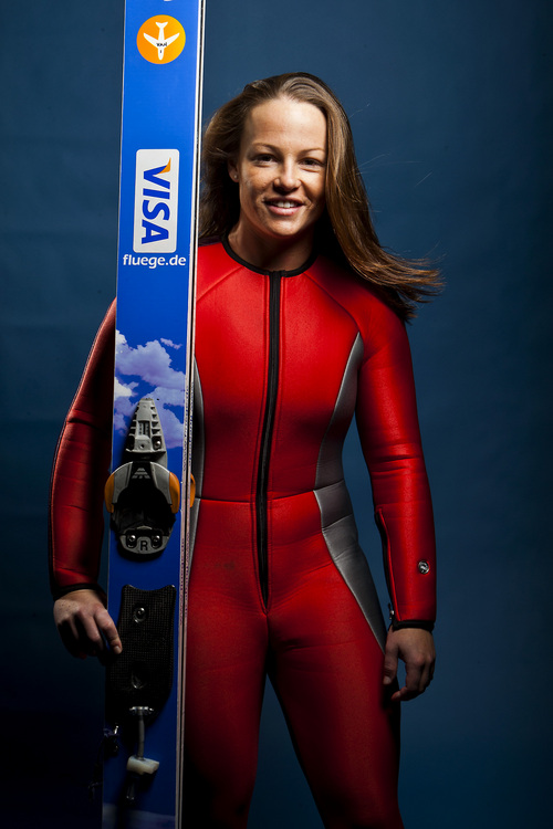 Chris Detrick  |  The Salt Lake Tribune Ski jumping athlete Lindsey Van poses for a portrait during the Team USA Media Summit at the Canyons Grand Summit Hotel Tuesday October 1, 2013.