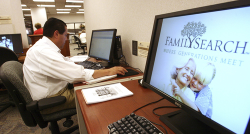 Leah Hogsten  |    Tribune file photo  Arturo Cuellar lives in Plano, Texas, and for 15 years he has been researching his genealogy at the LDS Family History Library in Salt Lake City.