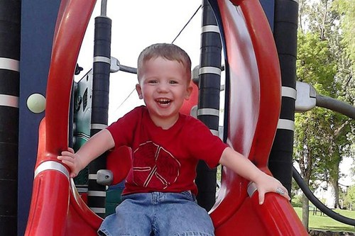 (Courtesy the Thurber familiy)  Zane Thurber, 3, died Saturday night after an allegedly drunk driver rear-ended his father's car, which was stopped for a red light at 5400 S. 1300 West in Taylorsville.