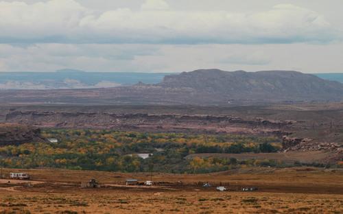 Rick Egan   |  The Salt Lake Tribune Houses and trailers on the Navajo reservation near Montezuma Creek, Utah, in October 2010.