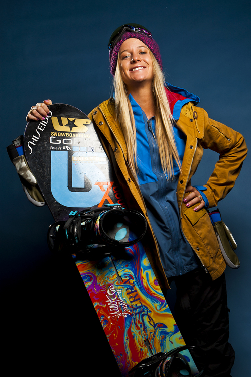 Chris Detrick     The Salt Lake Tribune Snowboarding halfpipe athlete Hannah Teter poses for a portrait during the Team USA Media Summit at the Canyons Grand Summit Hotel Wednesday October 2, 2013.