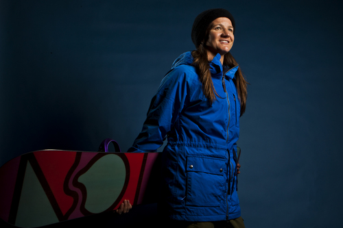 Chris Detrick     The Salt Lake Tribune Snowboarding halfpipe athlete Kelly Clark poses for a portrait during the Team USA Media Summit at the Canyons Grand Summit Hotel Wednesday October 2, 2013.