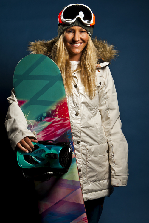 Chris Detrick     The Salt Lake Tribune Snowboarding halfpipe athlete Gretchen Bleiler poses for a portrait during the Team USA Media Summit at the Canyons Grand Summit Hotel Wednesday October 2, 2013.