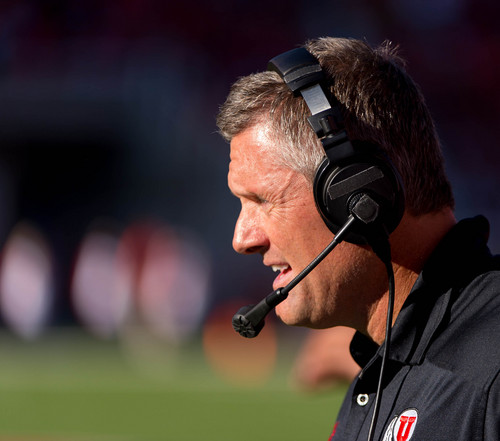 Trent Nelson  |  The Salt Lake Tribune Utah Utes head coach Kyle Whittingham, as the University of Utah hosts Colorado, college football at Rice-Eccles Stadium in Salt Lake City, Saturday November 30, 2013.