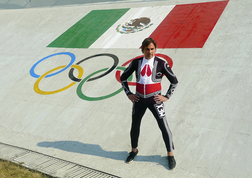 ADVANCE FOR WEEKEND EDITIONS FEB. 1-2 - This undated image released by the Mexico Olympic Committee, shows Mexico skier Hubertus Von Hohenlohe wearing his Mariachi speed suit. Von Hohenlohe certainly won't be hard to miss on the slopes at the Sochi Games, the German prince, who turns 55 in a few days, will be the one wearing a flamboyant Mariachi speed suit as he competes for Mexico. He's certainly a colorful character. Born in Mexico City, he's royalty because of his family's blood line. (AP Photo/Mexico Olympic Committee)