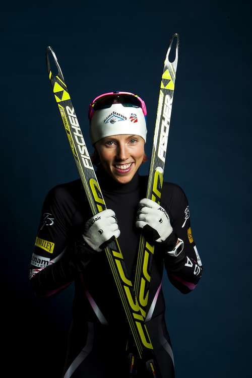 Chris Detrick  |  The Salt Lake Tribune Cross country skiing athlete Kikkan Randall poses for a portrait during the Team USA Media Summit at the Canyons Grand Summit Hotel Wednesday October 2, 2013.