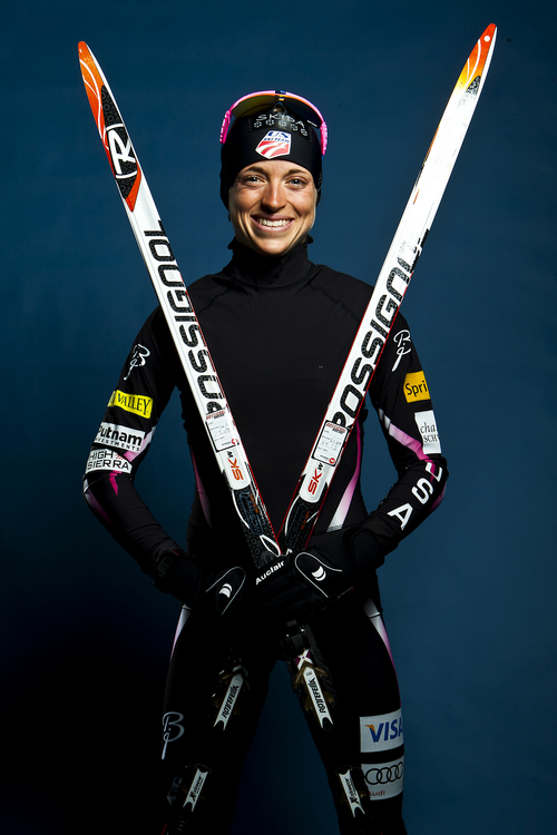 Chris Detrick  |  The Salt Lake Tribune Cross country skiing athlete Liz Stephen poses for a portrait during the Team USA Media Summit at the Canyons Grand Summit Hotel Wednesday October 2, 2013.