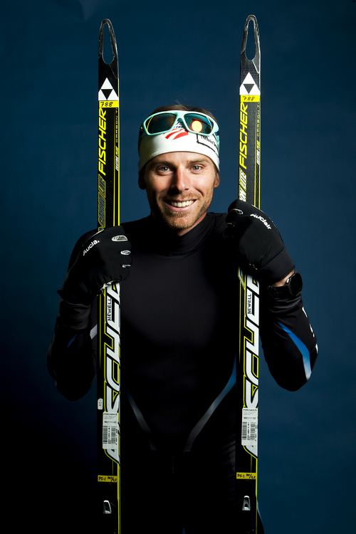 Chris Detrick  |  The Salt Lake Tribune Cross country skiing athlete Andy Newell poses for a portrait during the Team USA Media Summit at the Canyons Grand Summit Hotel Wednesday October 2, 2013.