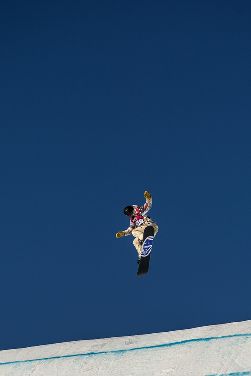 KRASNAYA POLYANA, RUSSIA  - JANUARY 8: Sage Kotsenburg of the United States competes in the Men's Slopestyle Semifinals at the Rosa Khutor Extreme Park during the 2014 Sochi Olympic Games Saturday February 8, 2014. (Photo by Chris Detrick/The Salt Lake Tribune)