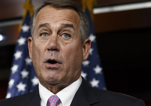 FILE - In this Feb. 6, 2014 file photo, House Speaker John Boehner of Ohio speaks during a news conference on Capitol Hill in Washington. Little more than a week after Groundhog Day, the evidence is mounting that lawmakers have all but wrapped up their most consequential work of 2014, at least until the results of the fall elections are known.  (AP Photo/J. Scott Applewhite, File)