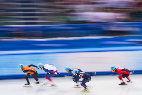 SOCHI, RUSSIA  - JANUARY 10: Korea's Se Yeong Park (242) competes in the 1,500-meter short-track speedskating competition at Iceberg Skating Palace during the 2014 Sochi Olympic Games Monday February 10, 2014. (Photo by Chris Detrick/The Salt Lake Tribune)