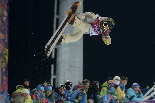 ROSA KHUTOR, RUSSIA - FEBRUARY 11: U.S.A. rider Danny Davis rides during the men's snowboard halfpipe final. Sochi 2014 Winter Olympics on Tuesday, February 11, 2014. (Photo by AAron Ontiveroz/The Denver Post)