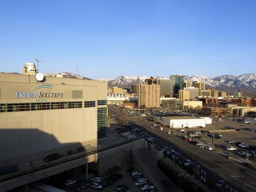 Thomas Nelson | The Salt Lake Tribune  EnergySolutions Arena on Wednesday, April 14, 2010