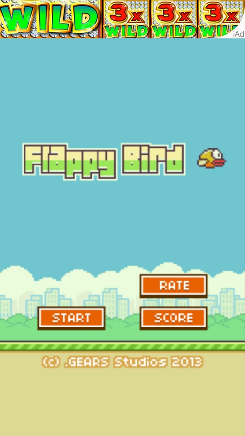 """  Courtesy  Screenshot from the viral video game, """"Flappy Bird."""""""