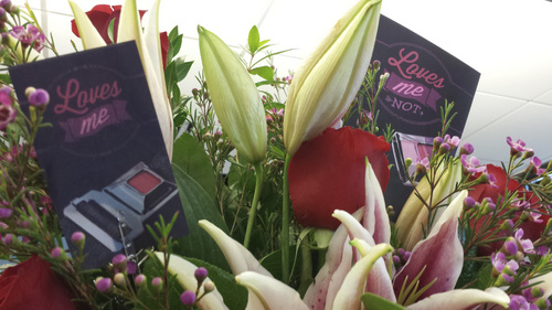 Michael McFall | The Salt Lake Tribune Florists are distributing reminders this week from the Click It Utah campaign to buckle-up this Valentine's Day.