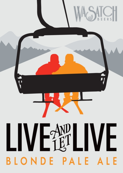 Courtesy photo | Wasatch Brewery  Wasatch Brewery is showing its support of same-sex marriages in Utah with a new beer, called Live and Let Live,  that pairs two similar ingredients.