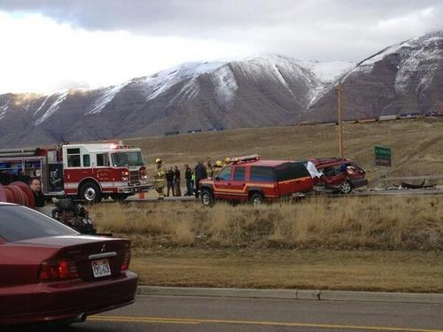 Christine McCarthy  |  KUTV News  The Utah Highway Patrol is reporting three people were killed and three others were injured in a two-vehicle crash in Tooele County on Sunday, Feb. 16, 2014.