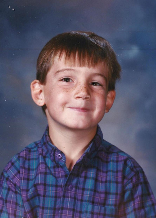 Courtesy photo Actor Tyson Baker in 5th grade.