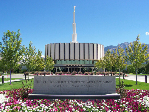 Ogden Utah Temple as it originally appeared. Courtesy LDS Newsroom