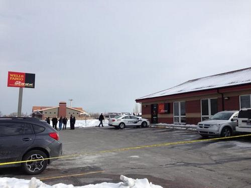 The scene of a shooting in Magna after a man reportedly tried to cash or deposit a forged or bad check   Jim Dalrymple II | Salt Lake Tribune