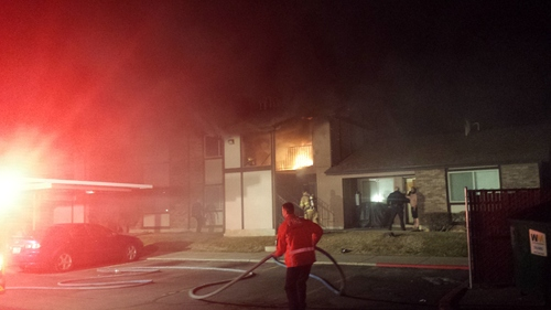 | Courtesy Ogden Fire Department Ogden firefighters quickly doused an apartment fire early Wednesday, after rescuing two occupants.