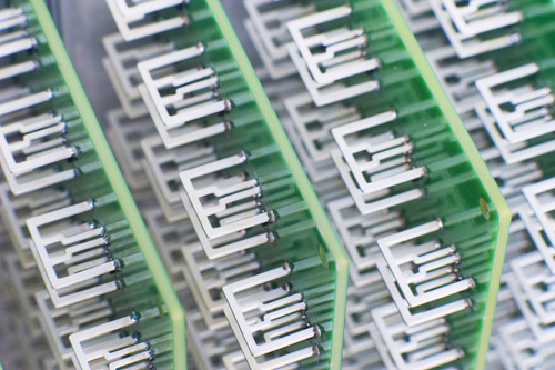 An array of tiny dime-sized antennas is the heart of new technology by Internet TV service, Aereo. The service allows subscribers to watch live over-the-air broadcasts on their desktop computers and mobile devices. It is launching Aug. 19 in Utah. A judge issued a stay on Feb. 19 requiring Aereo to cease broadcasting. Courtesy image