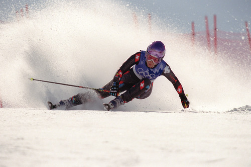 |  Tribune file photo Sonja Nef competes in the women's giant slalom during the 2002 Salt Lake Games.