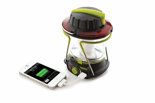Lighthouse lantern from Goal Zero The Lighthouse 250 lantern from Goal Zero not only lights up the night, but also serves as a portable charging device for mobile devices. The Lighthouse can be charged with a solar panel, through a USB cord or by  hand crank. It is $79.99 and is available now. www.goalzero.com Courtesy photo