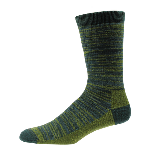 """Bend socks from Farm to Feet This """"100 percent"""" American company continues its growth in the industry by adding designs to the industry-wide traditional - read that as boring - hiking socks. Fall 2014 models like the Bend will include intricate designs. A portion of sales from the Bend ($19) will be donated to the Conservation Alliance, which is headquartered in Bend, Ore. farmtofeet.com Courtesy photo"""