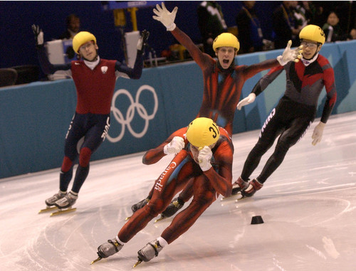 Leah Hogsten  |  Tribune file photo Skaters compete during the 2002 Winter Olympic Games in Salt Lake City.