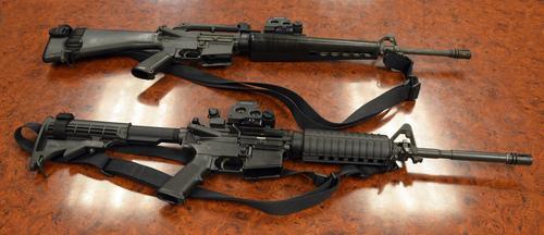 Rick Egan     The Salt Lake Tribune The Granite School District received M-16s from the U.S. Department of Defense.