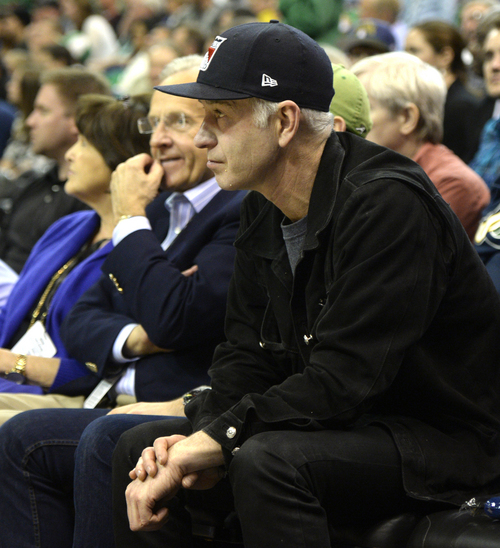 Rick Egan  | The Salt Lake Tribune   John McEnroe was on hand to watch the Jazz Play the Boston Celtics, at the EnergySolutions Arena, Monday, February 24, 2014.