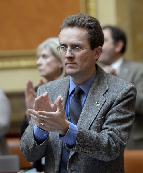 Al Hartmann  |  The Salt Lake Tribune Rep. Jim Nielson, R-Bountiful in the Utah House of Representatives Thursday February 20.