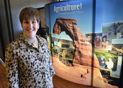 Steve Griffin  |  The Salt Lake Tribune   LuAnn Adams is the new Commission of Agriculture for Utah. She is photographed here at the Utah Department of Agriculture Building in Salt Lake City on Thursday, February 20, 2014.