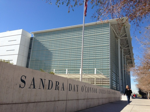 Jim Dalrymple ||  |  The Salt Lake Tribune  The Sandra Day O'Connor Courthouse, where a trial is beginning that focuses on whether Colorado City, Ariz., and Hildale, Utah, discriminated against a family because they are not members of The Fundamentalist Church of Jesus Christ of Latter-Day Saints.