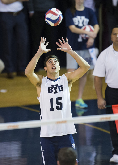 14mVLB vs Pacific 034  BYU Men's Volleyball Team beat Pacific University  BYU - 3 PAC - 0  January 25, 2014  Photo by Bella Torgerson McLaws  © BYU PHOTO 2014 All Rights Reserved photo@byu.edu   (801)422-7322