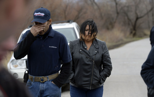 Francisco Kjolseth  |  The Salt Lake Tribune Rick Martin, step father to Aletha Jo Williams and her sister Lovoina Ortega feel the emotion of possible new information regarding Williams who was 25 years old and 6 months pregnant when she was last seen March, 2002. The two spoke along the banks of the Jordan River near 2590 S. 1160 East, as the Salt Lake City police department were acting on several credible tips that led them to reopen the case and focus on the river.