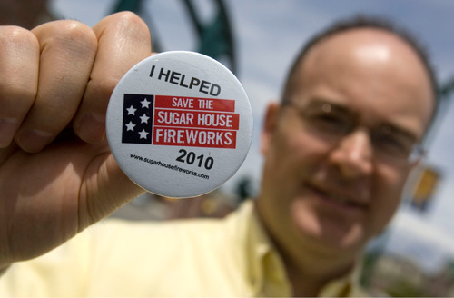 Tribune file photo  Funding for the Sugar House fireworks show is in jeopardy again, as it was in 2010, when when organizer Scott Workman appealed to the public for donations.