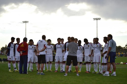 Courtesy Garrett Cleverly  |  Grande Sports Academy  Real Salt Lake's Arizona-based residential academy is home to four youth teams that train and live on the campus in Casa Grande, Ariz., Over 45 academy graduates have gone on to play collegiate soccer and nine players signed pro contracts out of the academy. The complex is comprised of nine professional standard soccer fields, six of which are lighted; a 58,000 square foot training and conditioning performance center, featuring four stadium quality locker rooms of 71 lockers each; 16 classrooms; four equipment rooms; state of the art training equipment; an outdoor technical area and two therapy pools.