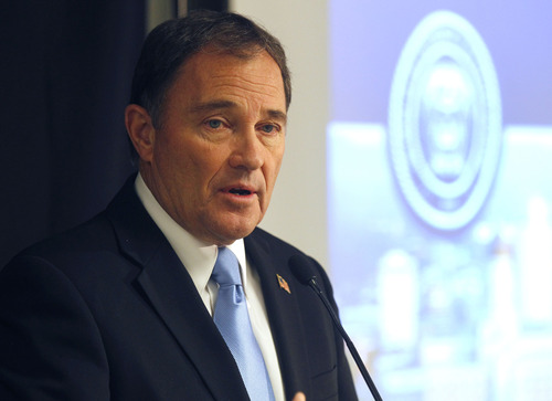 Al Hartmann  |  Tribune file photo Utah Gov. Gary Herbert vetoed HB76 to allow carrying of concealed guns without a permit. He said the current system -- requiring background checks and firearms familiarity classes -- works fine.