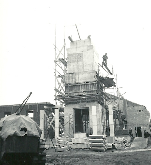 Photos from the construction of the former LDS Church building at  375 East 100 South in Salt Lake City.  Courtesy photo