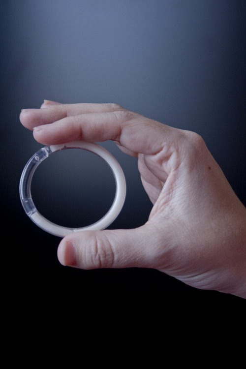 | Courtesy University of Utah  An image of a new intravaginal ring designed to protect against HIV and unwanted pregnancy that could soon enter clinical trials.
