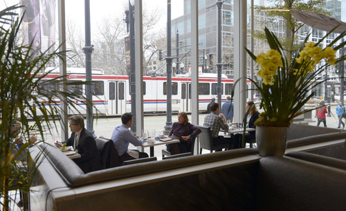 Al Hartmann  |  The Salt Lake Tribune  Bistro 222 on Main Street across from Gallivan Plaza in Salt Lake City has modern decor with large windows on the south and east to take in views of the city.