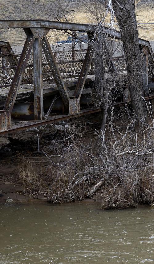 Leah Hogsten  |  The Salt Lake Tribune The Weber River, along Interstate 84 in Weber County, Thursday, March 6, 2014.