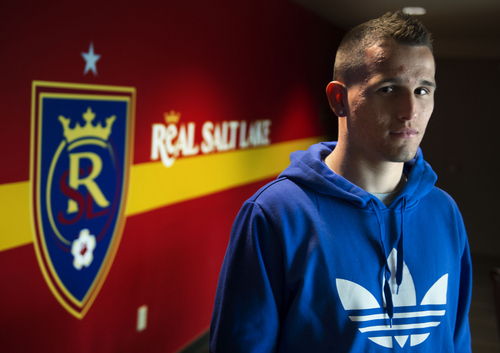 Keith Johnson | The Salt Lake Tribune  Real Salt Lake midfielder Luis Gil, who is only 20 years old, is entering his fifth year with the club. Gil is considered one of the premier MLS soccer players of the next generation. He earned his first cap with the U.S. men's national team in February and promises to be an important fixture leading the club's youth movement in the future. Photo taken March 5, 2014 at Rio Tinto stadium in Sandy, Utah.