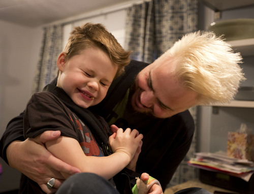 Lennie Mahler     The Salt Lake Tribune Branden Campbell, bassist for Neon Trees, tickles his son, Connor, 6, at their home in Cedar Hills, Utah, on Friday, Nov. 22, 2013. Connor battles a severe form of epilepsy and experiences seizures almost constantly, including in his sleep. After trying various epilepsy medications to no avail, the Campbells hope to treat Connor with CBD, a compound found in cannabis that has medical effects but none of the psychoactive effects of THC.