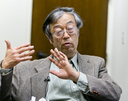 Dorian S. Nakamoto talks during an interview with the Associated Press, Thursday, March 6, 2014 in Los Angeles. Nakamoto, the man that Newsweek claims is the founder of Bitcoin, denies he had anything to do with it and says he had never even heard of the digital currency until his son told him he had been contacted by a reporter three weeks ago. (AP Photo/Damian Dovarganes)