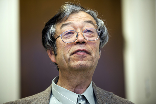 Dorian S. Nakamoto smiles during an interview with the Associated Press, Thursday, March 6, 2014 in Los Angeles. Nakamoto, the man that Newsweek claims is the founder of Bitcoin, denies he had anything to do with it and says he had never even heard of the digital currency until his son told him he had been contacted by a reporter three weeks ago. (AP Photo/Damian Dovarganes)