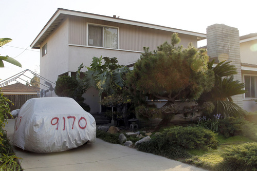 This image take Thursday March 6, 2014 shows the residence of Dorian S. Nakamoto in Temple City, Calif. Nakamoto, the man that Newsweek claims is the founder of Bitcoin denies he had anything to do with it and says he had never even heard of the digital currency until his son told him he had been contacted by a reporter three weeks ago.   (AP Photo/Nick Ut)