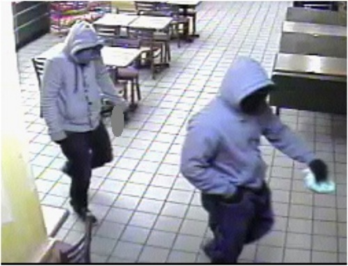 Courtesy  |  Salt Lake City Police Department Police are asking for the public's help identifying the two men suspected of robbing a Salt Lake City Subway on March 4.